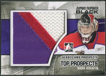 2010/11 ITG Heroes and Prospects #JM12 Mark Visentin Top Prospects Jumbo Number Black /6