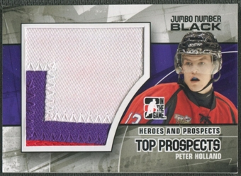 2010/11 ITG Heroes and Prospects #JM16 Peter Holland Top Prospects Jumbo Number Black /6