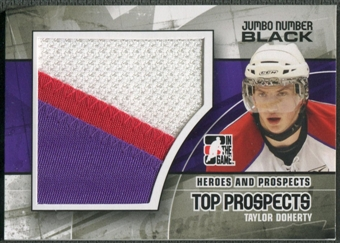 2010/11 ITG Heroes and Prospects #JM23 Taylor Doherty Top Prospects Jumbo Number Black /6