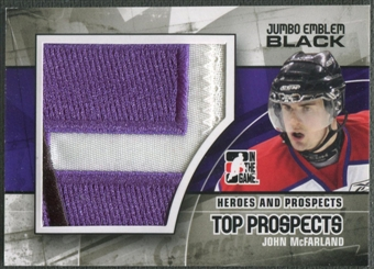 2010/11 ITG Heroes and Prospects #JM09 John McFarland Top Prospects Jumbo Emblem Black /6