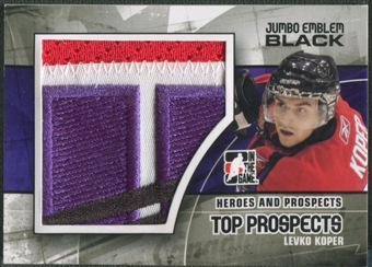 2010/11 ITG Heroes and Prospects #JM08 Levko Koper Top Prospects Jumbo Emblem Black /6
