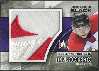 2010/11 ITG Heroes and Prospects #JM11 Mark Pysyk Top Prospects Jumbo Emblem Black /6