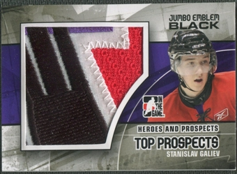 2010/11 ITG Heroes and Prospects #JM21 Stanislav Galiev Top Prospects Jumbo Emblem Black /6