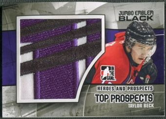 2010/11 ITG Heroes and Prospects #JM17 Taylor Beck Top Prospects Jumbo Emblem Black /6