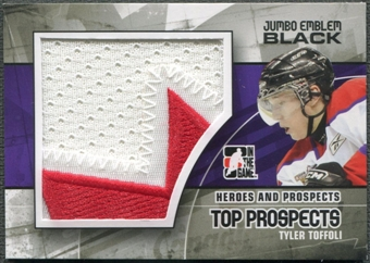 2010/11 ITG Heroes and Prospects #JM26 Tyler Toffoli Top Prospects Jumbo Emblem Black /6