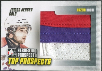2009/10 ITG Heroes and Prospects #JM24 Nazem Kadri Top Prospects Jumbo Jersey Gold /10