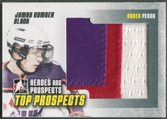 2009/10 ITG Heroes and Prospects #JM08 Corey Perry Top Prospects Jumbo Number Black /6