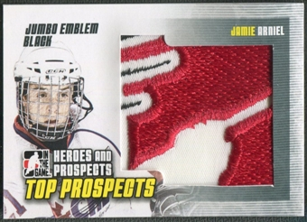 2009/10 ITG Heroes and Prospects #JM13 Jamie Arniel Top Prospects Jumbo Emblem Black /6