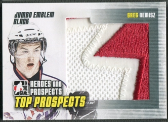 2009/10 ITG Heroes and Prospects #JM12 Greg Nemisz Top Prospects Jumbo Emblem Black /6
