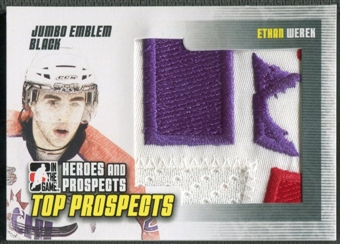 2009/10 ITG Heroes and Prospects #JM10 Ethan Werek Top Prospects Jumbo Emblem Black /6