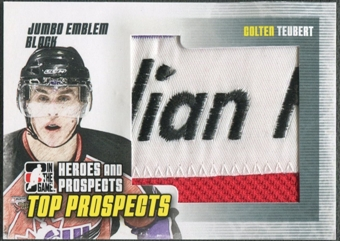 2009/10 ITG Heroes and Prospects #JM07 Colten Teubert Top Prospects Jumbo Emblem Black /6