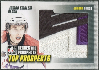 2009/10 ITG Heroes and Prospects #JM17 Jordan Caron Top Prospects Jumbo Emblem Black /6