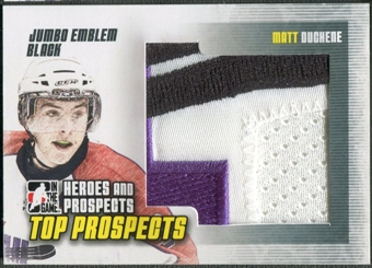 2009/10 ITG Heroes and Prospects #JM22 Matt Duchene Top Prospects Jumbo Emblem Black /6