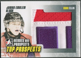 2009/10 ITG Heroes and Prospects #JM28 Ryan Ellis Top Prospects Jumbo Emblem Black /6