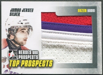 2009/10 ITG Heroes and Prospects #JM24 Nazem Kadri Top Prospects Jumbo Jersey Silver /30