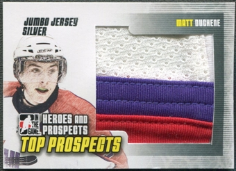 2009/10 ITG Heroes and Prospects #JM22 Matt Duchene Top Prospects Jumbo Jersey Silver /30