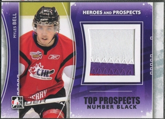 2011/12 ITG Heroes and Prospects #TPM02 Myles Bell Top Prospects Number Black /6
