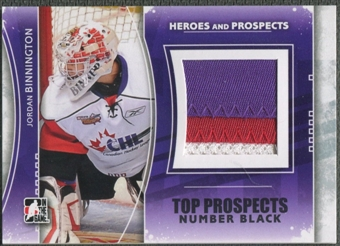 2011/12 ITG Heroes and Prospects #TPM03 Jordan Binnington Top Prospects Number Black /6