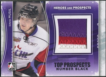 2011/12 ITG Heroes and Prospects #TPM14 David Musil Top Prospects Number Black /6