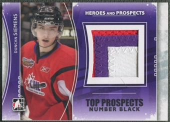 2011/12 ITG Heroes and Prospects #TPM19 Duncan Siemens Top Prospects Number Black /6