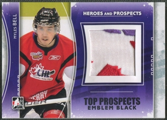 2011/12 ITG Heroes and Prospects #TPM02 Myles Bell Top Prospects Emblem Black /6