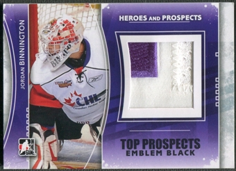 2011/12 ITG Heroes and Prospects #TPM03 Jordan Binnington Top Prospects Emblem Black /6