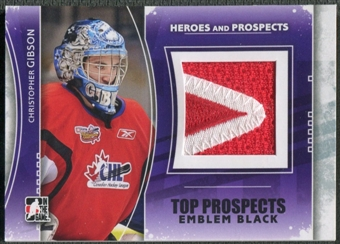 2011/12 ITG Heroes and Prospects #TPM05 Christopher Gibson Top Prospects Emblem Black /6