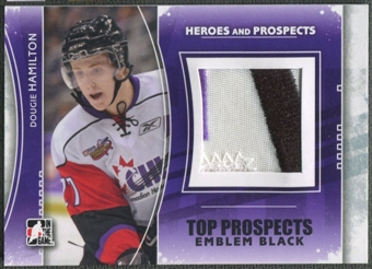 2011/12 ITG Heroes and Prospects #TPM06 Dougie Hamilton Top Prospects Emblem Black /6
