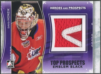 2011/12 ITG Heroes and Prospects #TPM07 David Honzik Top Prospects Emblem Black /6