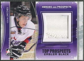 2011/12 ITG Heroes and Prospects #TPM08 Colin Jacobs Top Prospects Emblem Black /6