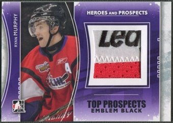 2011/12 ITG Heroes and Prospects #TPM13 Ryan Murphy Top Prospects Emblem Black /6