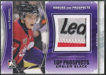 2011/12 ITG Heroes and Prospects #TPM16 Matt Puempel Top Prospects Emblem Black /6