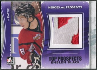2011/12 ITG Heroes and Prospects #TPM17 Ty Rattie Top Prospects Emblem Black /6
