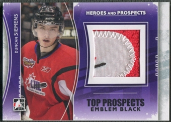 2011/12 ITG Heroes and Prospects #TPM19 Duncan Siemens Top Prospects Emblem Black /6