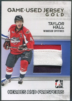 2009/10 ITG Heroes and Prospects #M44 Taylor Hall Game Used Jersey Gold /10