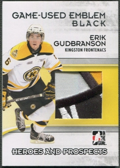 2009/10 ITG Heroes and Prospects #M45 Erik Gudbranson Game Used Emblem Black /6