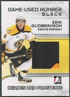 2009/10 ITG Heroes and Prospects #M45 Erik Gudbranson Game Used Number Black /6