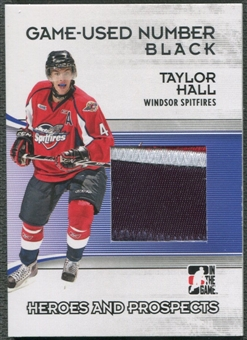 2009/10 ITG Heroes and Prospects #M44 Taylor Hall Game Used Number Black /6