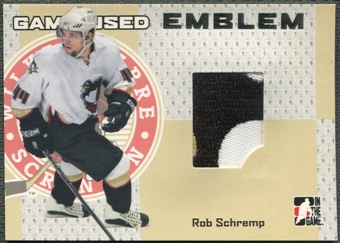 2006/07 ITG Heroes and Prospects #GUE72 Rob Schremp Emblem Silver /30