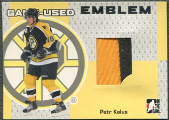 2006/07 ITG Heroes and Prospects #GUE62 Petr Kalus Emblem Silver /30