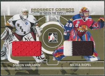 2008/09 Between The Pipes #PC07 Simeon Varlamov & Nicola Riopel Prospect Combos Gold Patch /10