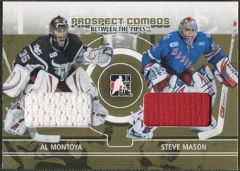 2008/09 Between The Pipes #PC11 Al Montoya & Steve Mason Prospect Combos Gold Patch /10