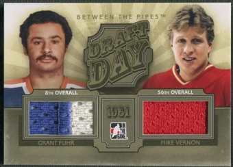 2012/13 Between The Pipes #DD17 Grant Fuhr & Mike Vernon Draft Day Gold Jersey /10
