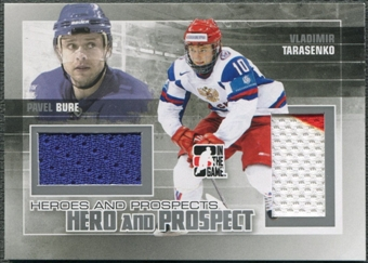 2010/11 ITG Heroes and Prospects #HP01 Vladimir Tarasenko & Pavel Bure Hero and Prospect Silver Jersey /50