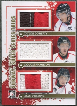2011/12 ITG Heroes and Prospects #SST08 Taylor Doherty Dougie Hamilton Matt Puempel Gold Jersey /10