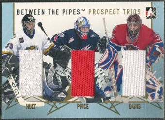 2006/07 Between The Pipes #PT15 Cristobal Huet Carey Price Yann Danis Prospect Trios Gold Jersey /10