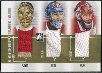 2008/09 Between The Pipes #GE07 Jacques Plante Carey Price Halak Goaltending Evolution Gold Jersey /10