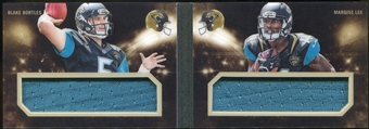 2014 Panini Playbook Combo Materials #24 Blake Bortles/Marqise Lee Serial #15/25