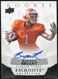 2013 Exquisite Collection Autographs #ERMB Martavis Bryant Serial #01/99 jersey #!!