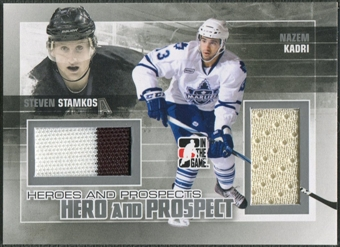 2010/11 ITG Heroes and Prospects #HP04 Nazem Kadri & Steven Stamkos Hero and Prospect Jersey Silver /50